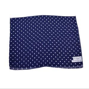 D'Angela Navy Blue White Polka Dot Scarf Polyester